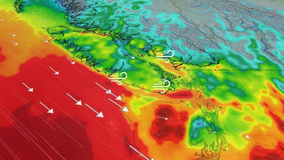 Strong winds, heavy high-elevation snow en route to B.C.