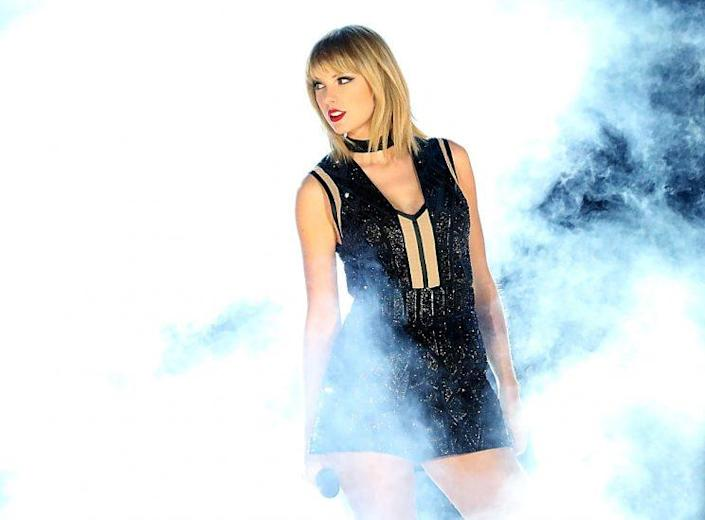 Taylor Swift performs at the U.S. Grand Prix in Austin, Texas, on Saturday. (Photo: Getty Images)