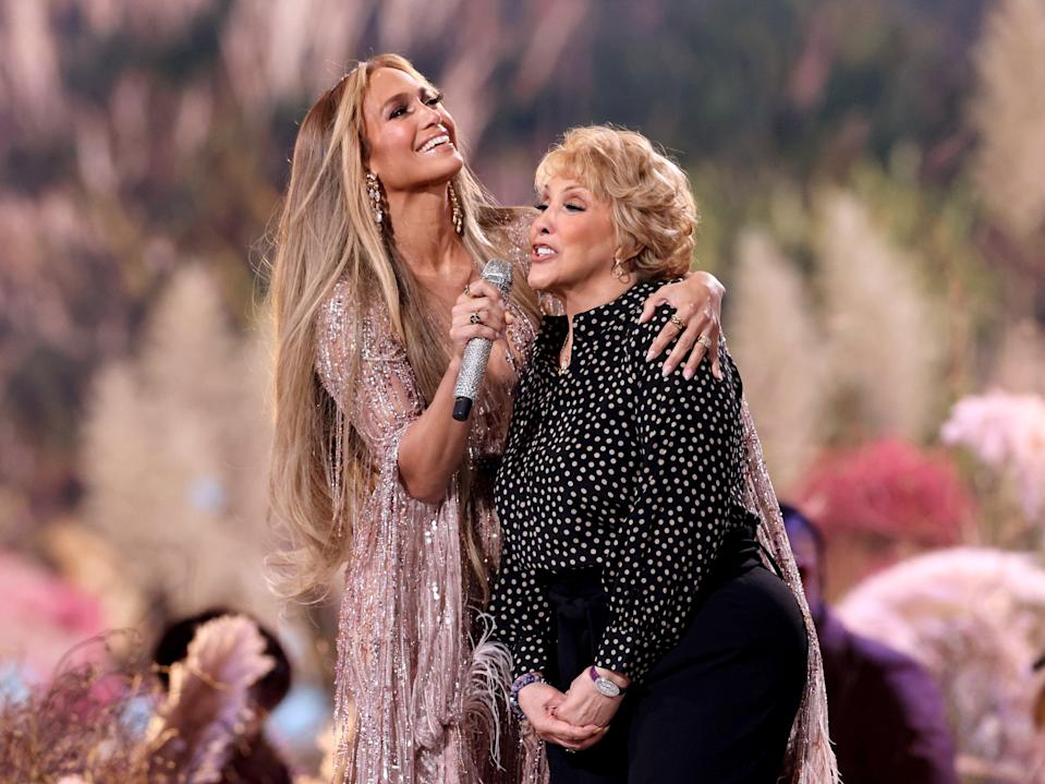 Jennifer Lopez and Guadalupe Rodríguez perform at Vax Live (Kevin Winter/Getty Images for Global Citizen VAX LIVE)