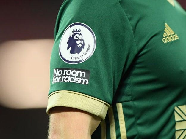 No Room For Racism patches have been visible on sleeves this season (Getty)