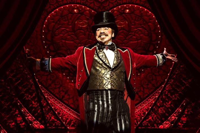 """Danny Burstein as Harold Zidlerin """"Moulin Rouge! The Musical"""" on Broadway."""