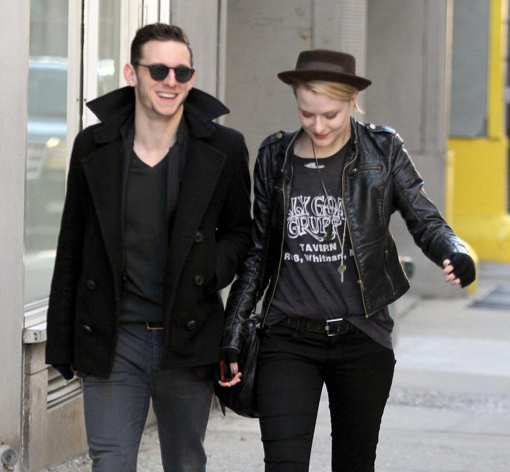 Evan Rachel Wood and Jamie Bell take a stroll in New York, USA