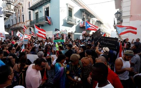 There had been widespread protests in Puerto Rico - Credit: REX