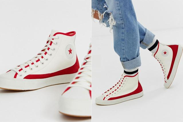 Converse Chuck Taylor Sasha Vintage red and white trainers