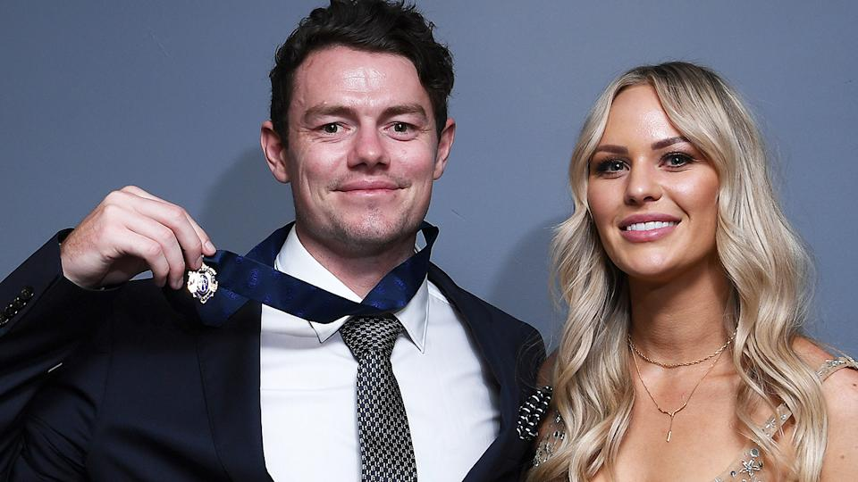 Reigning Brownlow Medallist Lachie Neale has reaffirmed his commitment to the Brisbane Lions after a week of headlines revolving around a potential trade request. (Photo by Quinn Rooney/Getty Images)
