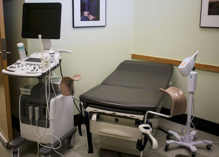 An exam room at the Planned Parenthood South Austin Health Center is seen in Austin