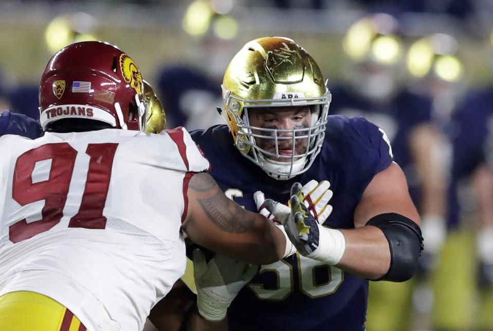 Notre Dame offensive lineman Quenton Nelson was taken sixth in the 2018 NFL draft by the Colts. (AP)