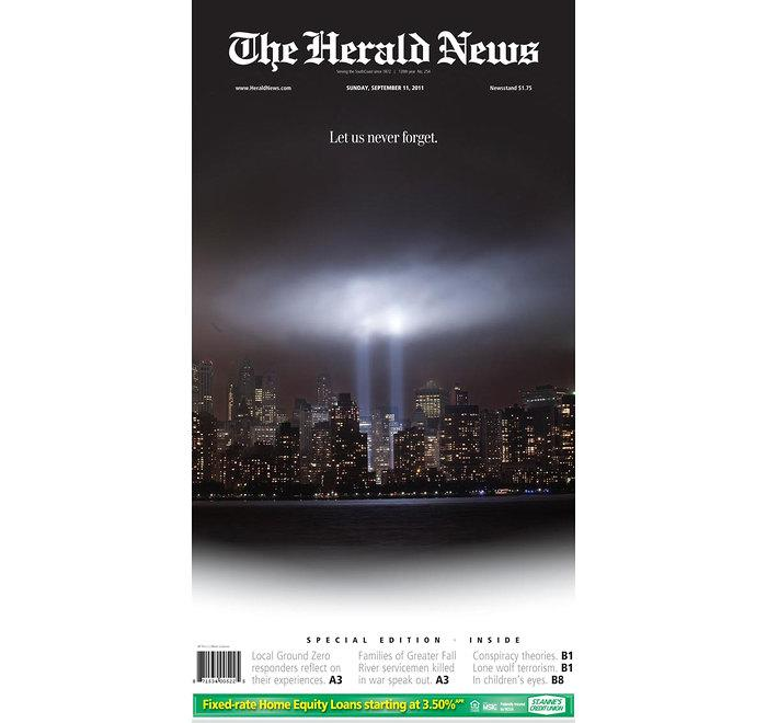 The Herald News, Fall River, Mass., Sept. 11, 2011.  (Photo: Newseum.org)