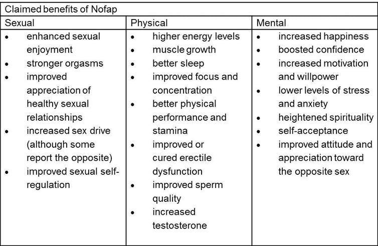 "<span class=""caption"">NoFap table.</span> <span class=""attribution""><span class=""source"">Daniel Kelly</span>, <span class=""license"">Author provided</span></span>"