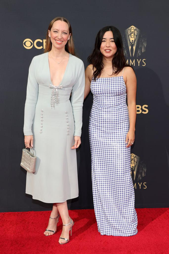 Anna Konkle and Maya Erskine attend the 73rd Primetime Emmy Awards on Sept. 19 at L.A. LIVE in Los Angeles. (Photo: Rich Fury/Getty Images)