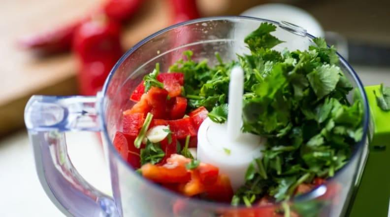 A food processor takes the hard work out of slicing and dicing.