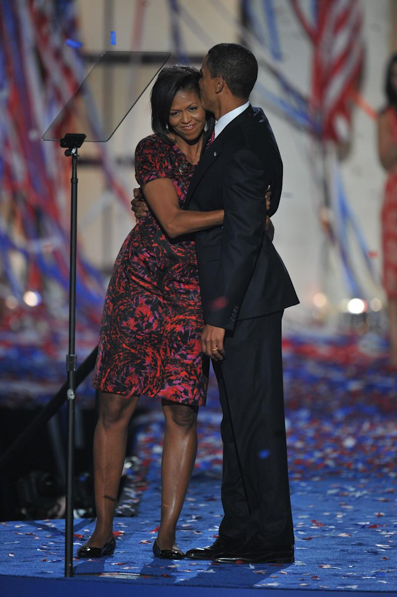 """Thakoon Panchigul's eponymous label may now once again be on hiatus, but the Thai-American designer got quite the boost when Obama wore a printed dress of his on the night that Barack Obama accepted the 2008 Democratic presidential nomination. """"It was like watching a scary movie—wanting to look but not wanting to look,"""" he said of fitting the former first lady for the occasion. Clearly, the pair worked it out: Obama has been a known admirer of his floral dresses, even—gasp—wearing the same one three times in as many years."""
