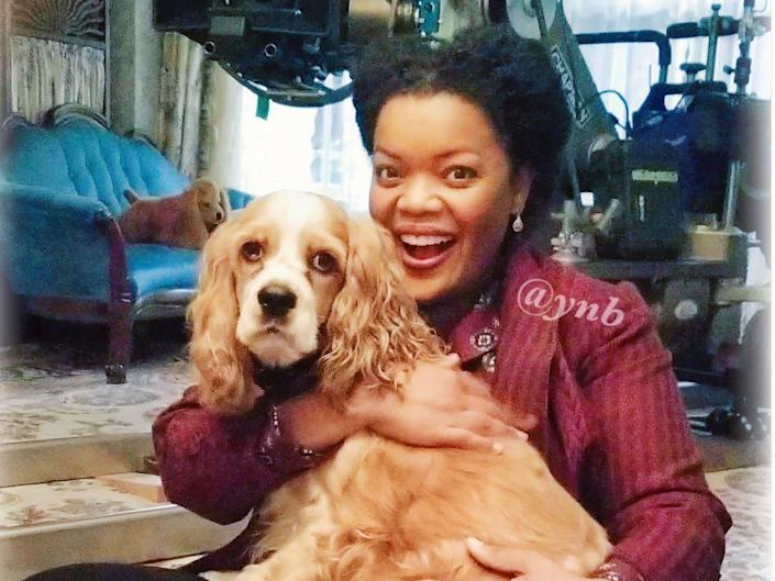 """Brown and Harley on set of """"Lady and the Tramp."""" <p class=""""copyright""""><a href=""""https://www.instagram.com/p/B4Mh-tplxc7/"""" rel=""""nofollow noopener"""" target=""""_blank"""" data-ylk=""""slk:Instagram/@misterharleybrown"""" class=""""link rapid-noclick-resp"""">Instagram/@misterharleybrown</a></p>"""
