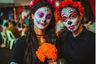 "<p>The Day of the Dead has <a href=""https://dayofthedead.holiday/history/"" rel=""nofollow noopener"" target=""_blank"" data-ylk=""slk:roots in indigenous Aztec culture"" class=""link rapid-noclick-resp"">roots in indigenous Aztec culture</a>. Traditions like the ofrenda originated from the Aztec practices of honoring the dead by placing offerings at tree stumps. When Spanish colonizers arrived in the 16th century, they moved Dia de Muertos from the summer to November 1 and 2 so it would coincide with the Catholic holidays of All Saints' Day and All Souls' Day.</p>"