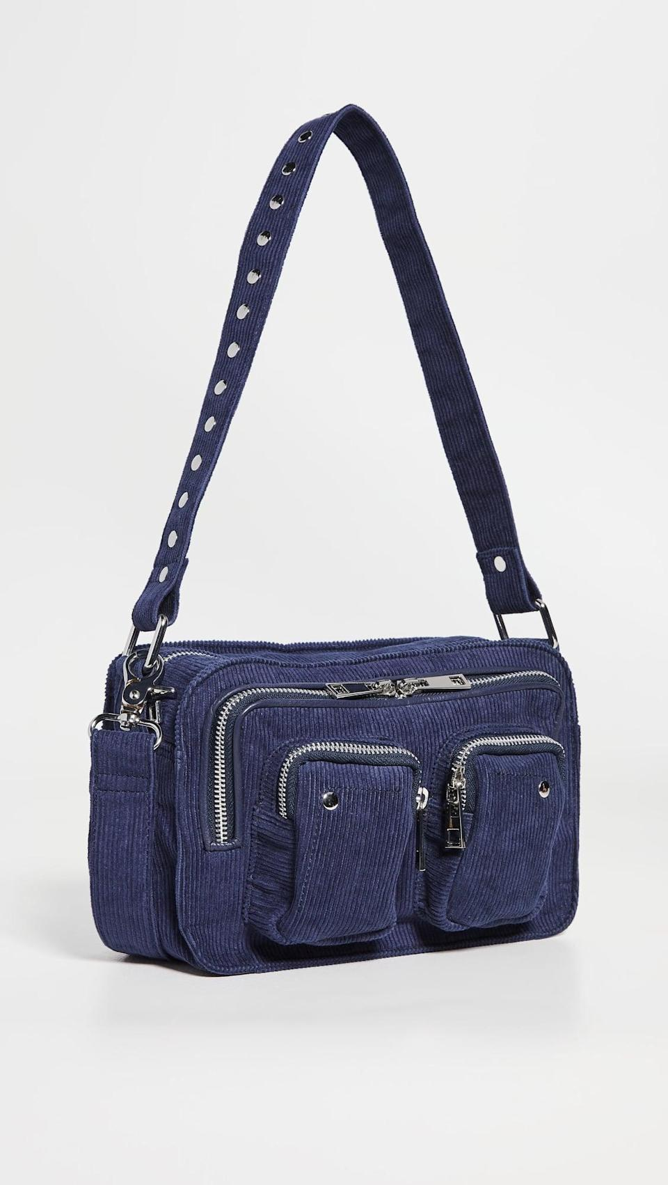<p>This <span>Nunoo Ellie Corduroy Bag</span> ($56, originally $111) is such a cool fall bag. We're obsessed with the navy courduroy.</p>