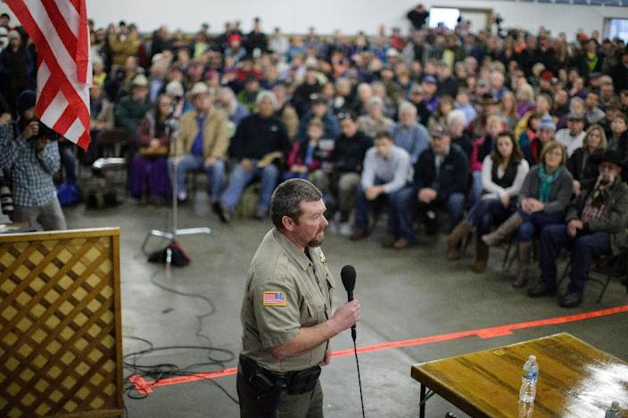 Harney County Sheriff David Ward voiced distress that a police attempt to bring a peaceful resolution to the crisis ended in bloodshed (AFP Photo/Rob Kerr)