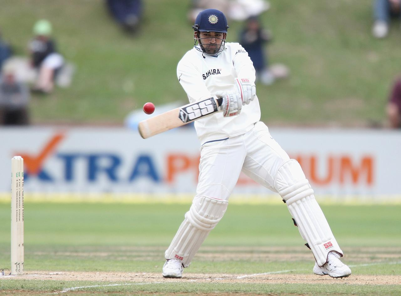 WELLINGTON, NEW ZEALAND - APRIL 06:  Zaheer Khan of India bats during day four of the Third Test match between New Zealand and India at the Basin Reserve on April 6, 2009 in Wellington, New Zealand.  (Photo by Marty Melville/Getty Images)