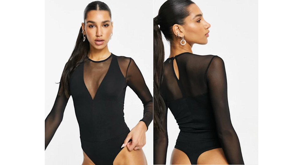 sheer bodysuit from asos