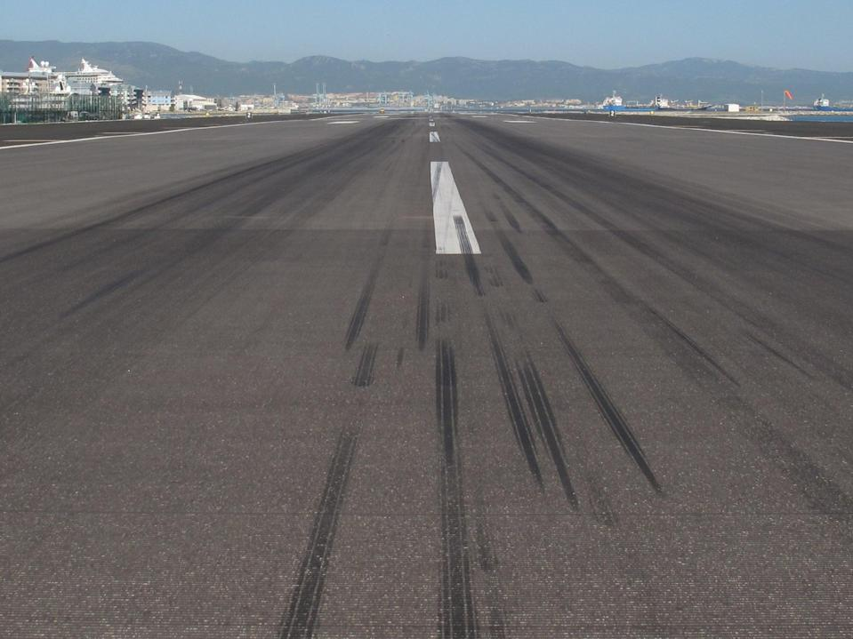Flight plan: the runway at Gibraltar airport, likely to be on the 'green list' (Simon Calder)