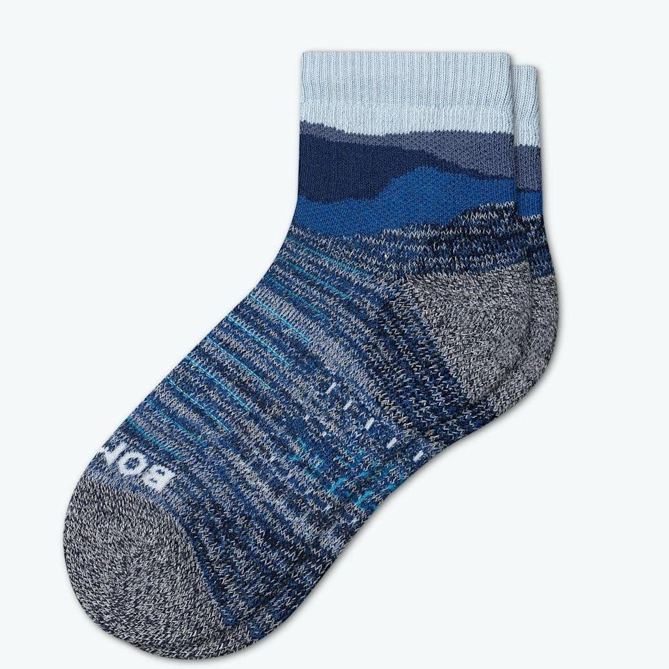 """<p>bombas.com</p><p><strong>$16.00</strong></p><p><a href=""""https://bombas.com/products/womens-hiking-socks-1?variant=monaco-blue&size=m"""" rel=""""nofollow noopener"""" target=""""_blank"""" data-ylk=""""slk:Shop Now"""" class=""""link rapid-noclick-resp"""">Shop Now</a></p><p>These cushioned wool hiking socks have ventilation technology that keeps feet cool in the summer and warm in the winter. In other words, they're a year-round essential.</p>"""