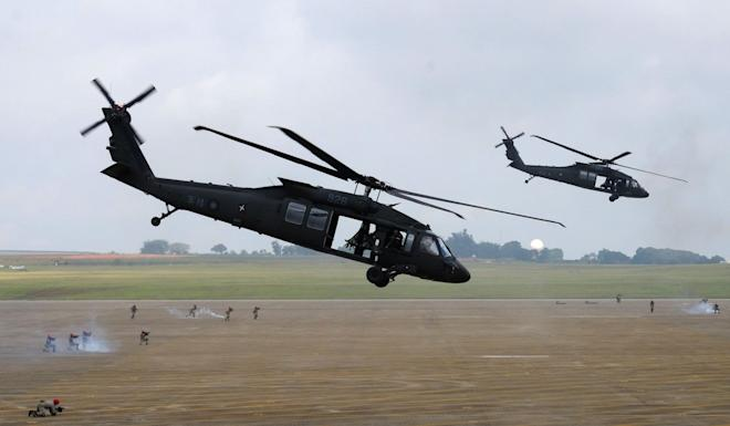 The helicopter that crashed was one of the UH-60M Black Hawks Taiwan bought from the United States in 2010. Photo: AFP