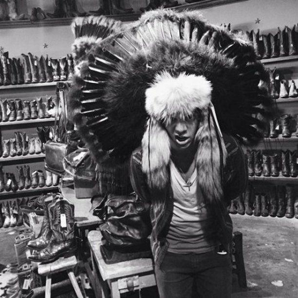 Harry Styles' Twitter followers weren't impressed with this photo, showing him sporting a traditional Native American headdress, with many accusing him of cultural appropriation. He later deleted the picture from his social media accounts.