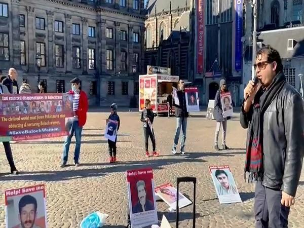 Baloch held protest in front of the Royal Palace in Amsterdam