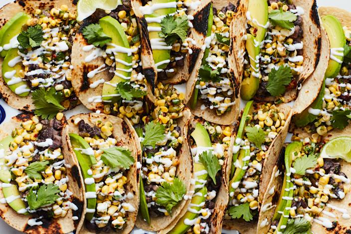"""<h1 class=""""title"""">Spicy Black Bean and Corn Tacos: NO MEAT NO PROBLEM INSET</h1> <div class=""""caption""""> Who said food has to taste like meat to be delicious? </div> <cite class=""""credit"""">Photo by Chelsea Kyle, Food Styling by Katherine Sacks</cite>"""