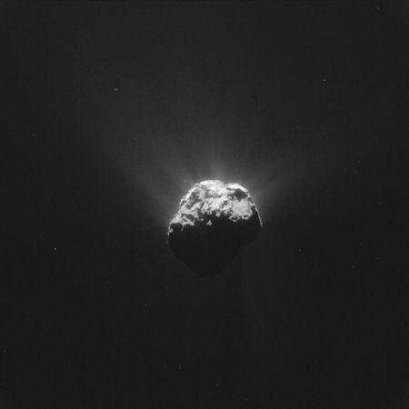 The Comet 67P/Churyumov-Gerasimenko is seen in an image taken by the Rosetta space probe on June 13, 2015 and distributed by the European Space Agency (ESA) on June 17, 2015. REUTERS/ESA - European Space Agency/Handout via Reuters