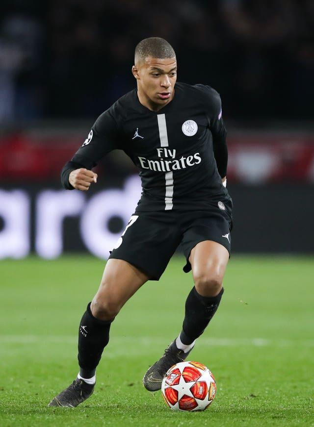 Paris St Germain's Kylian Mbappe was tagged in a hastily-deleted tweet from Phil Foden's Twitter account