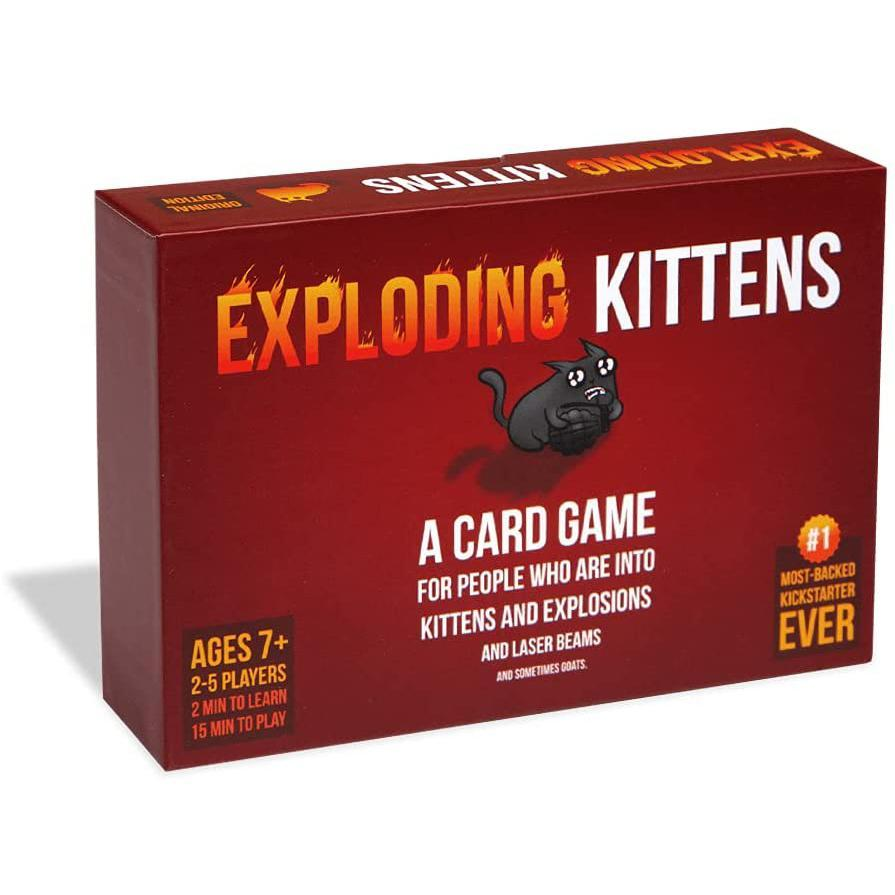 exploding kittens card game, 2 player board games