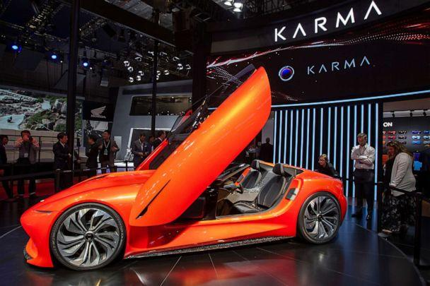 PHOTO: A Karma SC1 Vision Concept car is displayed during the 18th Shanghai International Automobile Industry Exhibition in Shanghai, China, April 16, 2019. (Imaginechina via AP, FILE)