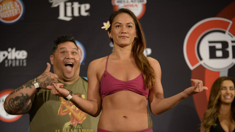 Yahoo Sports' Kevin Iole spoke with the Bellator women's flyweight champ about her upcoming fight against Alejandra Lara, physically losing a championship belt, and a very interesting ancestry kit that led to a family reunion. (Getty Images)