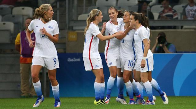 Carli Lloyd and Alex Morgan got the U.S. women's national team off to a successful start in its quest for more Olympic gold.