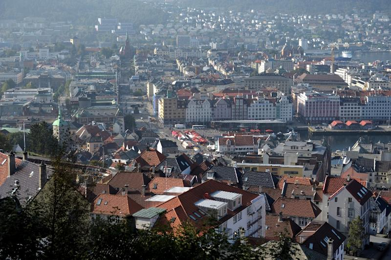 View of the city of Bergen, Norway, on September 12, 2014. Norway's financial supervisory authority proposed to tighten mortgage lending rules in a bid to curb record-high household debt and housing prices