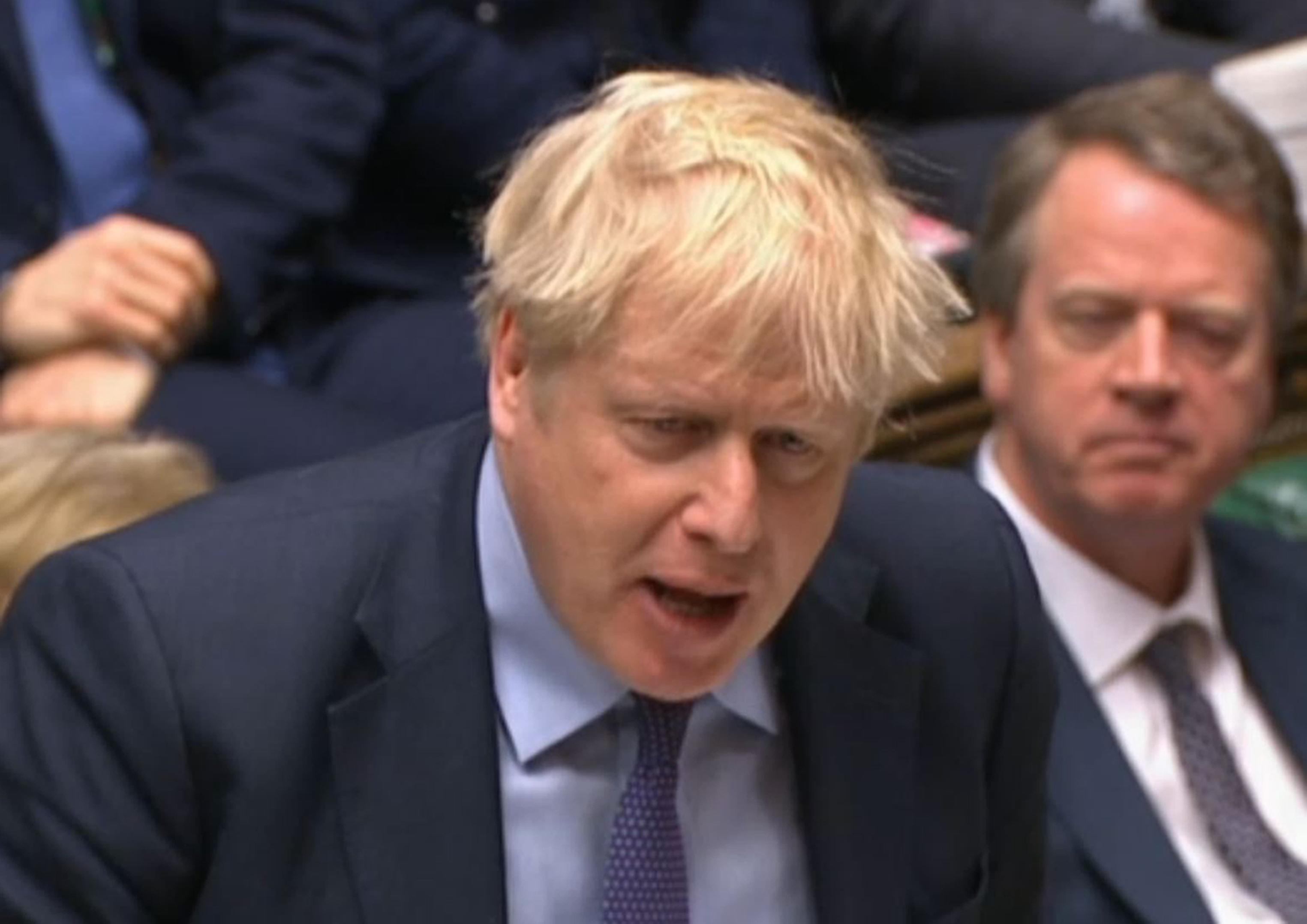 Prime Minister Boris Johnson speaks during Prime Minister's Questions in the House of Commons, London. (Photo by House of Commons/PA Images via Getty Images)