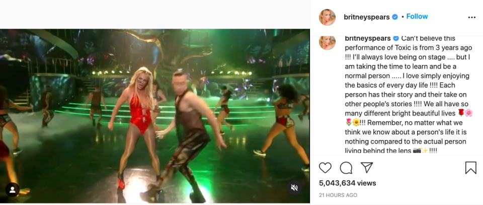 britney spears posts toxic video