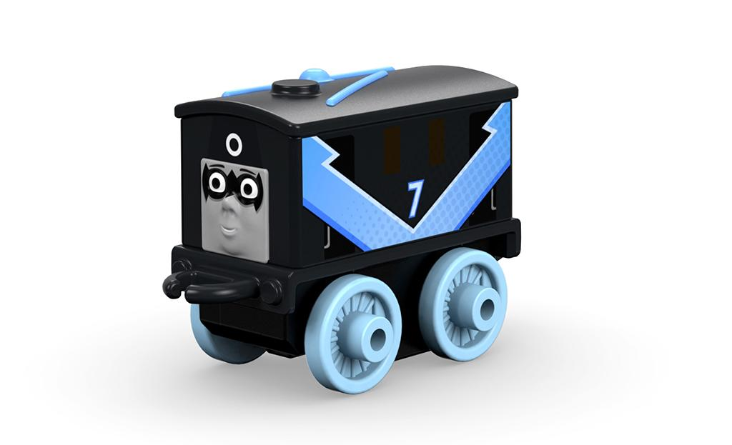 <p>It's only appropriate that slow and steady tram engine, Toby, would be matched with Batman's oldest, most dependable sidekick, Dick Grayson — a former Robin, a current Nightwing, and an occasional Batman.(Photo: Fisher-Price) </p>
