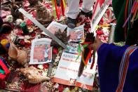 Peruvian shamans perform a traditional ritual ahead of presidential election, in Lima