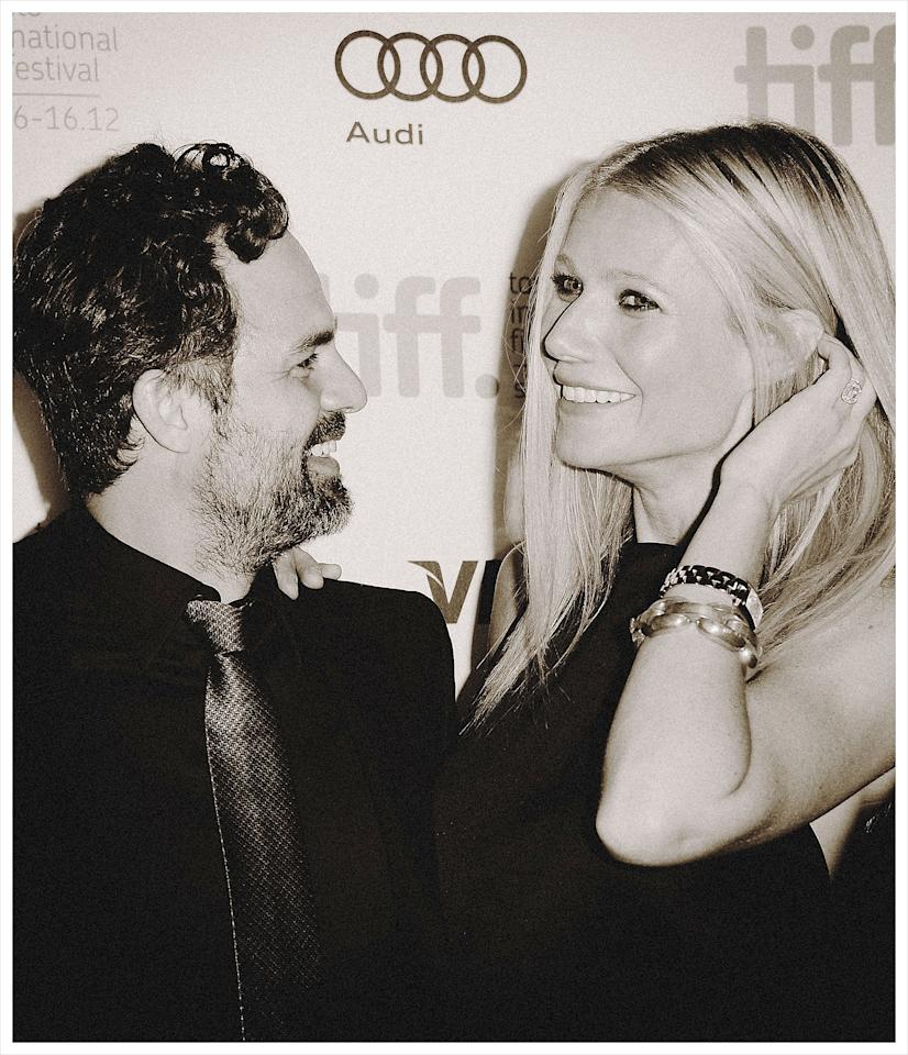 TORONTO, ON - SEPTEMBER 08:  <<(EDITORS NOTE: Image was processed using various digital filters) Actors Mark Ruffalo and Gwyneth Paltrow attend the 'Thanks For Sharing' premiere during the 2012 Toronto International Film Festival at Ryerson Theatre on September 8, 2012 in Toronto, Canada. (Photo by Jason Merritt/Getty Images)