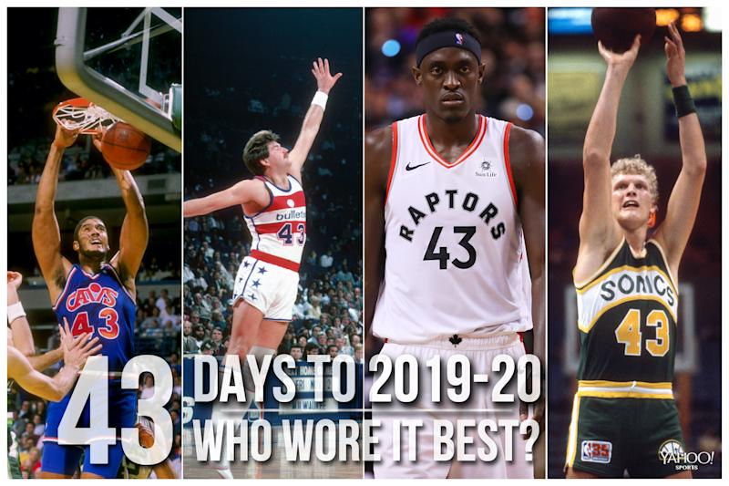 Which NBA player wore No. 43 best?