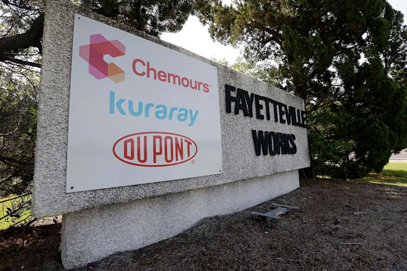 The Delaware-based Chemours Company manufactures C3 dimer acid, also known as GenX, at theFayetteville Works plant in North Carolina. (Photo: Gerry Broome/ASSOCIATED PRESS)