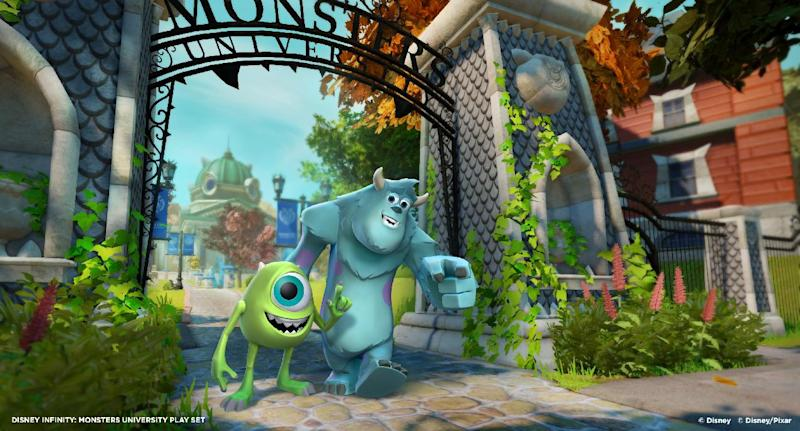 This undated publicity photo released by Walt Disney Company shows the video game, Disney Infinity: Monsters University Play Set. (AP Photo/Walt Disney Company)