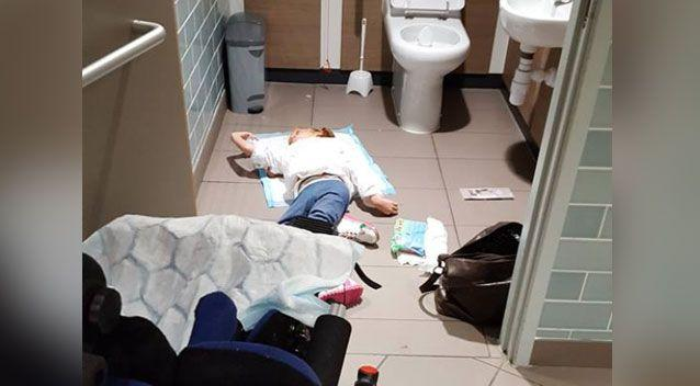 Mothers have spoken out over the lack of disabled changing facilities after this shocking image was shared online. Source: Twitter