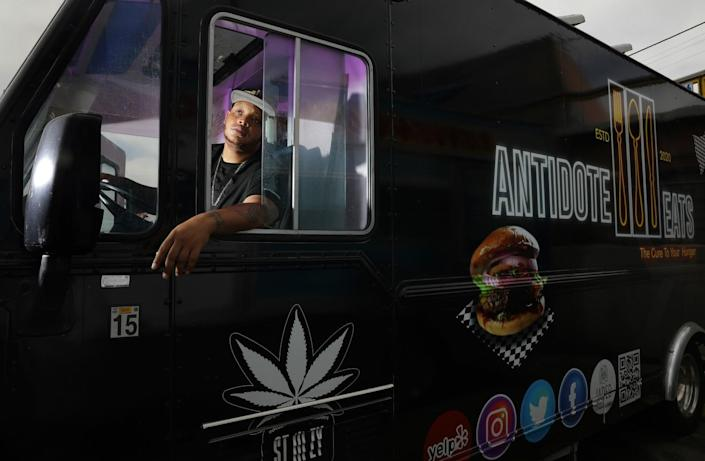 Anthony Suggs had to put his food truck, Antidote Eats, on hold when event opportunities dried up after December's shutdown.