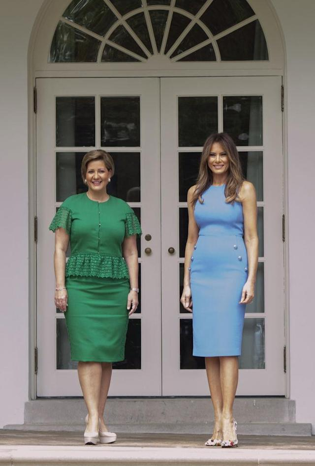 First ladies Lorena Castillo de Varela, left, and Melania Trump. (Photo: Getty Images)