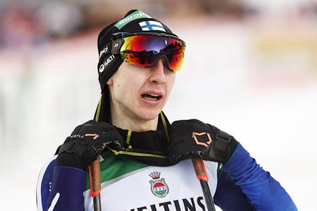 Ilkka Herola of Finland placed third is seen after the cross-country skiing of the men's Nordic Combined Team Sprint of the FIS World Cup in Lahti, Finland March 3, 2018. LEHTIKUVA/Roni Rekomaa via REUTERS ATTENTION EDITORS - THIS IMAGE WAS PROVIDED BY A THIRD PARTY. NO THIRD PARTY SALES. NOT FOR USE BY REUTERS THIRD PARTY DISTRIBUTORS. FINLAND OUT. NO COMMERCIAL OR EDITORIAL SALES IN FINLAND.