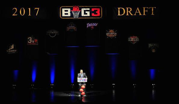 Ice Cube opened the Big 3 draft. (Getty Images)