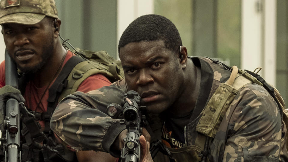 Sam Richardson plays the rather out of his depth Charlie in 'The Tomorrow War'. (Amazon Prime Video)