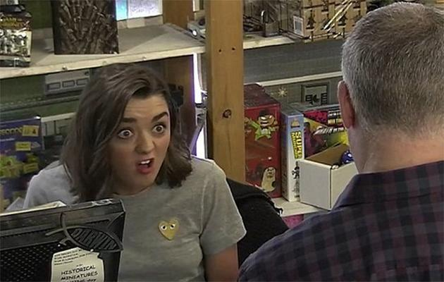 Maisie Williams confused fans. Photo: YouTube